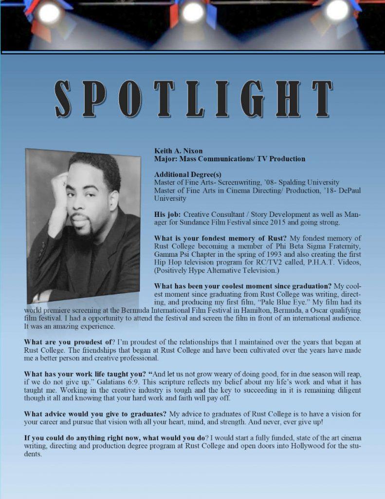 Rust Alumni Keith Nixon Profile