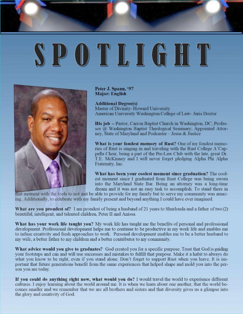Rust Alumni Peter Spann Profile