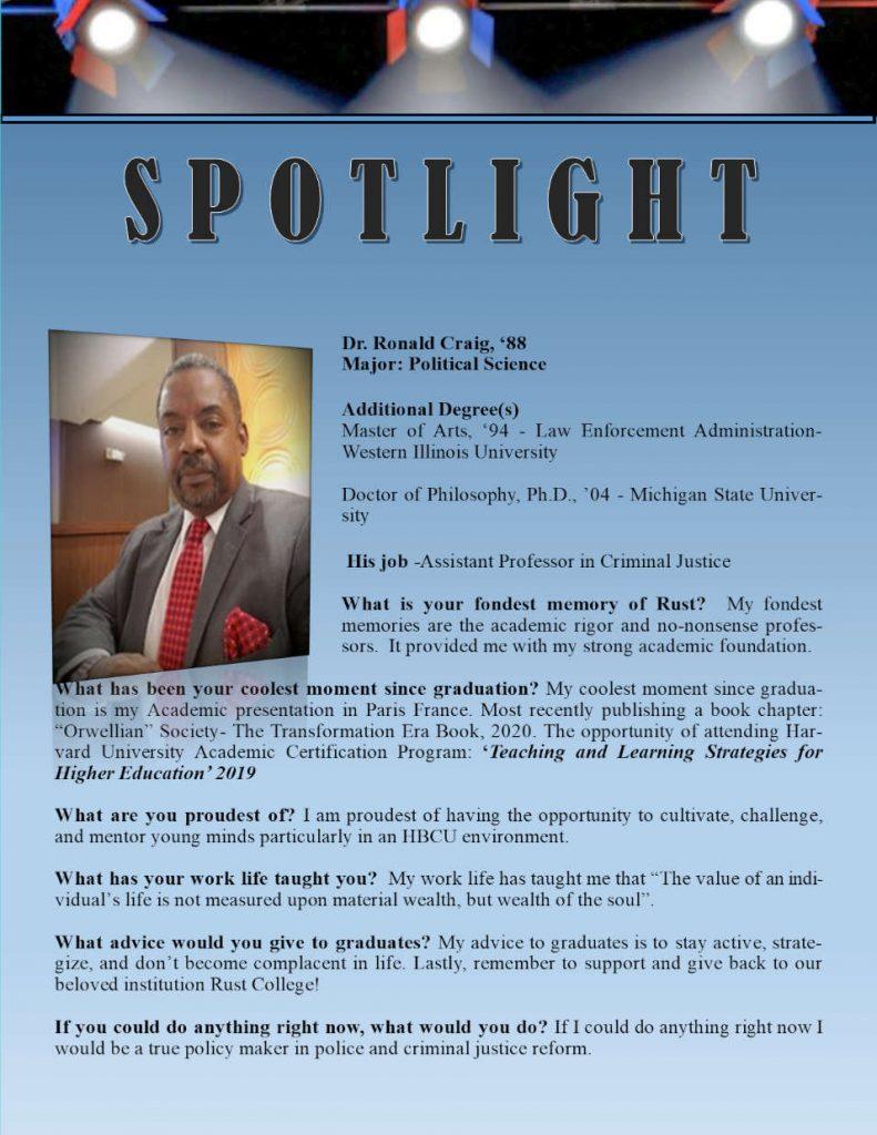 Rust Alumni Roald Craig Profile