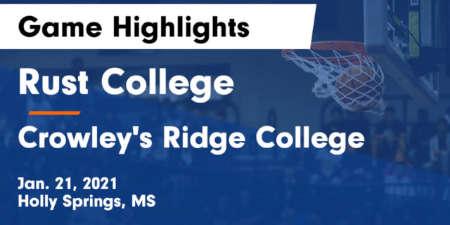 Rust vs Crowley's Ridge College Highlights
